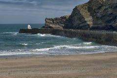 Portreath-Pier bei Portreath, Cornwall Großbritannien Stockfoto