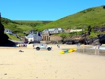 Portreath strand, Cornwall Arkivbild