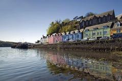 Portree, Skye,苏格兰,英国的内在Hebrides小岛  免版税库存图片