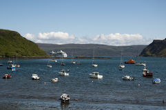 Portree Harbour on the Isle of Skye Royalty Free Stock Image