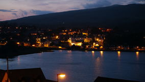 Portree harbour at night Royalty Free Stock Photography