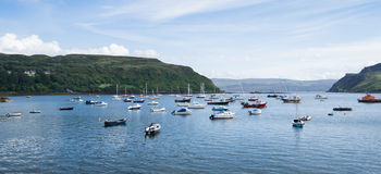 Portree harbour, scotland Royalty Free Stock Photography