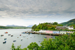 Portree harbour, Skye, Scotland. Morning view of Portree, Isle of Skye Royalty Free Stock Image