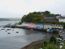 Portree schronienia wyspa Skye, Szkocja zdjęcia stock