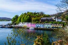 Portree town, Isle Of Skye, Scotland stock photography