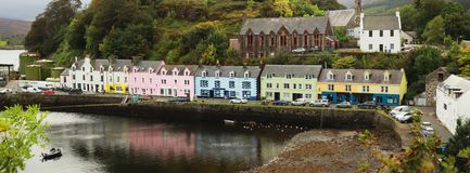 Portree village Stock Photo