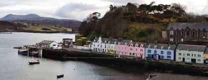 Portree wyspa Skye zimy kolory Zdjęcia Royalty Free