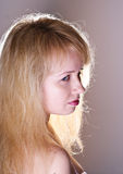 Portreit attractive blond girl Stock Images