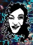 Portreit van een vrouw Stock Afbeelding