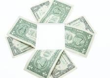 Portret: één dollar Stock Afbeelding