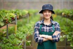 Portret Ładna Azjatycka ogrodniczka zdjęcie royalty free