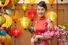 Portret ładna azjatykcia kobieta zdjęcie stock