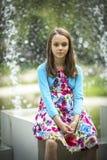 Portret śliczna mała dziewczynka w lecie obraz royalty free