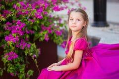 Portret śliczna piękna dziewczyna z długie włosy w princess sukni obraz royalty free