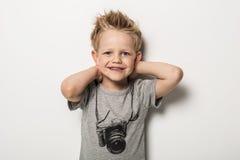 Portret śliczny chłopiec pozować Obraz Royalty Free