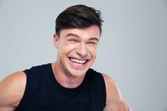 Portret śmieszny mężczyzna śmiać się obraz royalty free