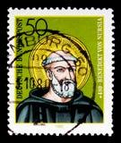 Portret święty Benedykt Nursia, 1500th narodziny Rocznicowy seria około 1980, Obraz Stock