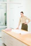Portret żeński architekt Zdjęcia Royalty Free