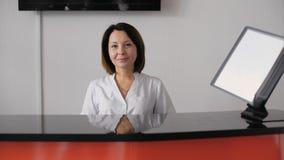 Portret żeński recepcjonista zdjęcie wideo
