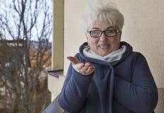 Portret красивой старшей женщины стоковая фотография