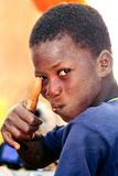 Portret ребенка Сенегала, салютуя Стоковая Фотография