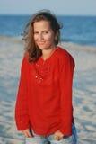 Portret aan het mooie meisje Royalty-vrije Stock Afbeelding