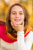 Portret ładna nastolatek dziewczyna Obrazy Royalty Free