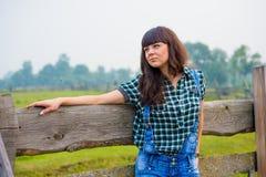Portret ładny cowgirl Fotografia Royalty Free