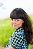 Portret ładny cowgirl Zdjęcia Royalty Free