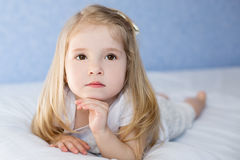 Portret adorable little girl waked Stock Photography