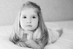 Portret adorable little girl waked Stock Photos
