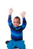 Portret Afrikaanse Amerikaan weinig jongen Royalty-vrije Stock Fotografie