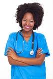 Afro amerykańska pielęgniarka Zdjęcia Royalty Free