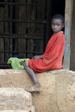 Portret Afrykańska chłopiec Fotografia Royalty Free