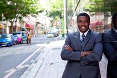 Portret Afrykański biznesowy mężczyzna Zdjęcia Royalty Free