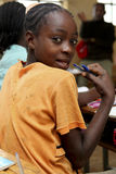 Portret Afrykańska uczennica Obrazy Royalty Free