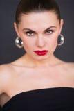 Portret agresywna kobieta Obraz Stock