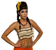 Portret Amerykańsko-indiański Obrazy Royalty Free