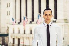 Portret Amerykański biznesmen w Nowy Jork Obrazy Royalty Free