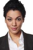 Portret amerykanin afrykańskiego pochodzenia biznesowa kobieta Zdjęcia Stock