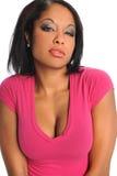Portret Amerykanin afrykańskiego pochodzenia Młoda Kobieta zdjęcia royalty free