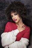 Portret amerykanin afrykańskiego pochodzenia dziewczyna Obrazy Royalty Free