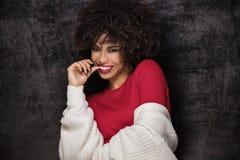 Portret amerykanin afrykańskiego pochodzenia dziewczyna Obraz Stock