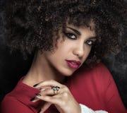 Portret amerykanin afrykańskiego pochodzenia dziewczyna Fotografia Stock