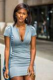 Portret amerykanina afrykańskiego pochodzenia bizneswoman w Nowy Jork Obrazy Stock