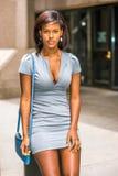 Portret amerykanina afrykańskiego pochodzenia bizneswoman w Nowy Jork Zdjęcie Royalty Free
