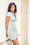 Portret amerykanina afrykańskiego pochodzenia bizneswoman w Nowy Jork Obraz Stock
