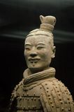 Portret antico cinese del guerriero di terracotta. immagini stock libere da diritti