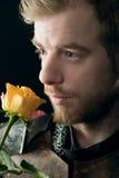 Portret antyczny rycerz Zdjęcia Royalty Free
