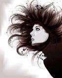 portret artystyczna piękna ilustracyjna kobieta ilustracja wektor